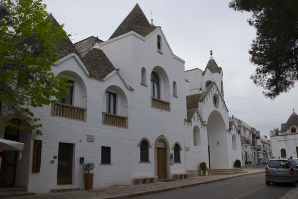 Trullo church of San Antonio in Alberobello, Puglia, Italy-