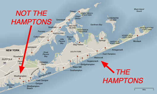 Hamptons map