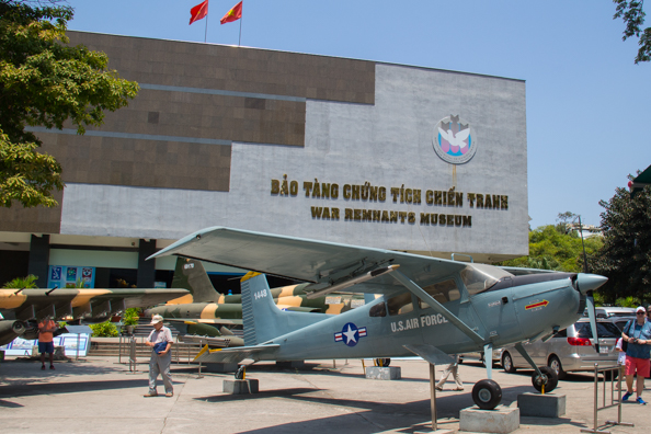The War Remnants Museum in Ho Chi Minh City in Vietnam