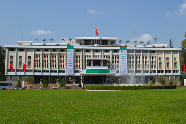 The Reunification Palace in Ho Chi Minh City in Vietnam