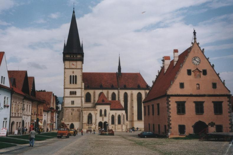 Bardejov Town Center Square