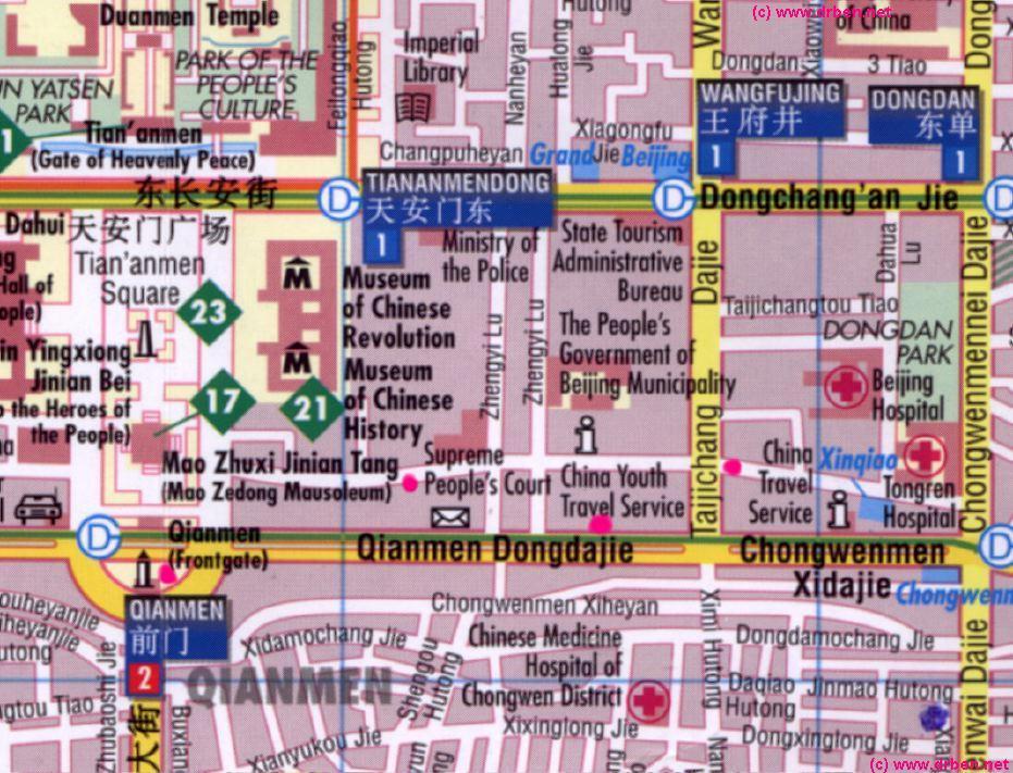 Beijing's Qianmen Area map