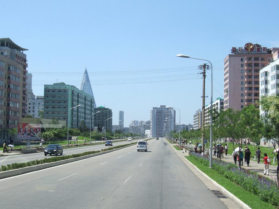 Pipa Street in Pyongyang