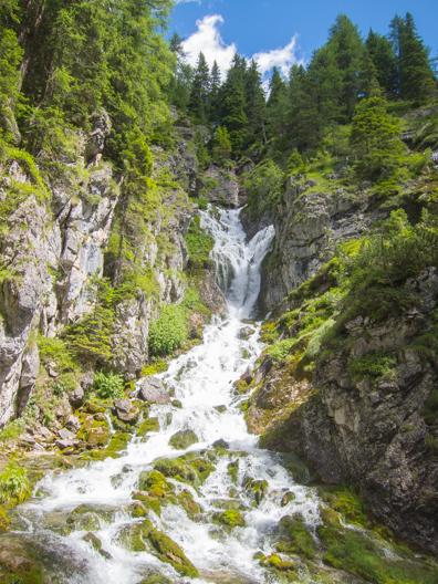 Cascata Alta, Vallesinella in Madonna di Campiglio