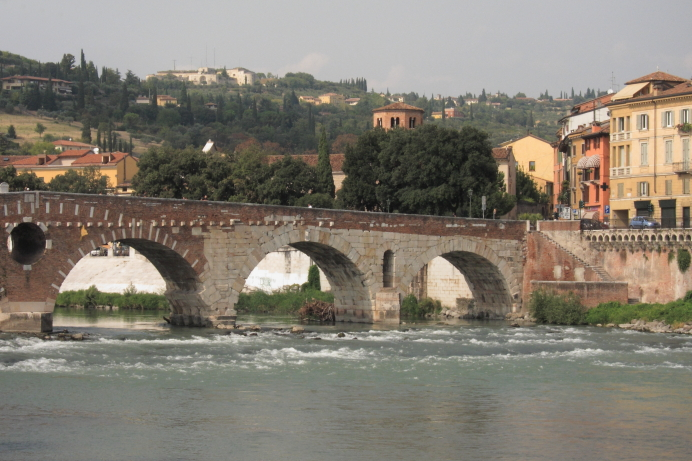 Ponte Pietra the Roman Bridge in Verona
