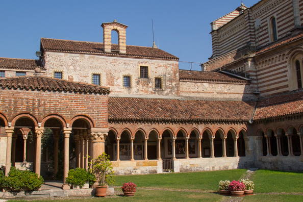 Cloisters at the Church of San Zeno in Verona