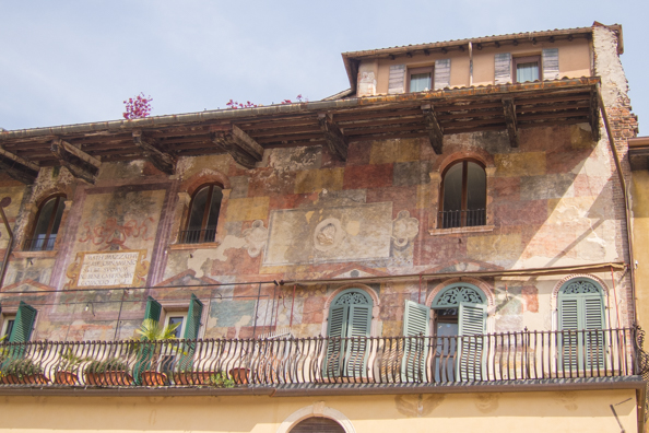 Frescoes on a Mazzanti House in Piazza Erbe in Verona