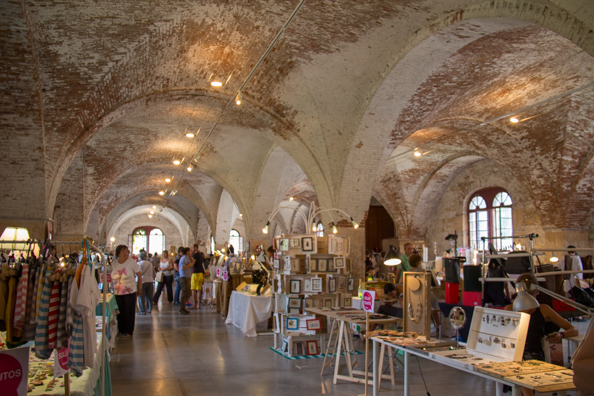 Handicraft fair inside the Arsenale in Verona