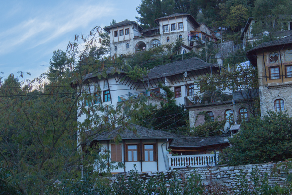 Typical Ottoman houses in Gjirokaster, Albania