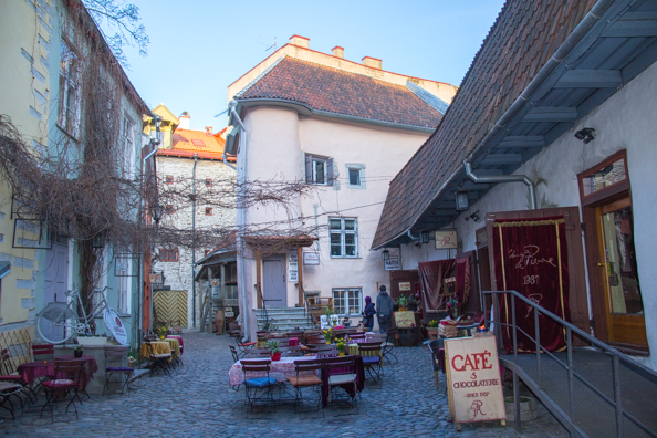 Chocolaterie in the Masters Courtyard in Tallinn, Estonia