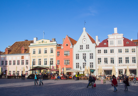 Merchants' Houses in Town Hall Square, Tallinn in Estonia