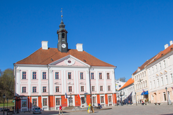 The Town Hall in Town Hall Square in Tartu, Estonia