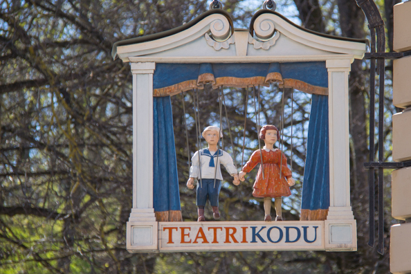 Theatre Kidu sign in Tartu, Estonia