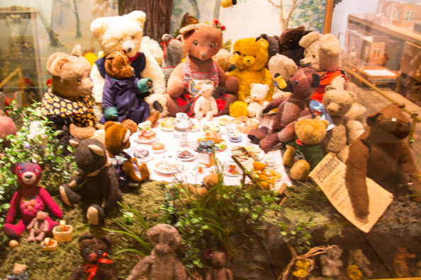 The Teddy Bears' Picnic in the toy Museum in Tartu, Estonia