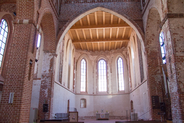 The interior of the Janni church of Saint John in Tartu, Estonia