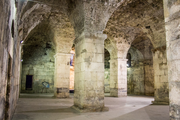 Inside Diocletian's Palace in Split, Dalmatia in Croatia