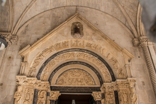 Radovan's Portal, Cathedral of St Lawrence in Trogir, Dalmatia in Croatia