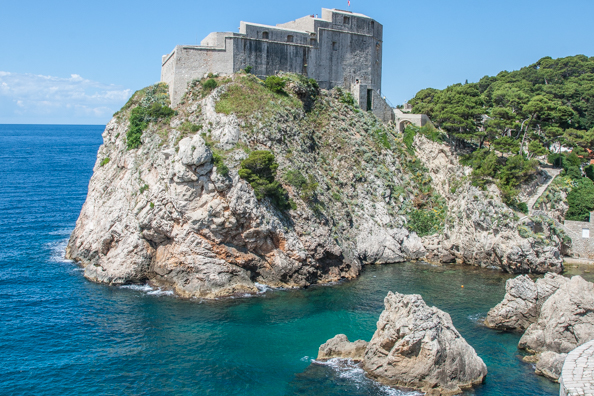 Lovrijenac Fortress in Dubrovnik, Dalmatia in Croatia