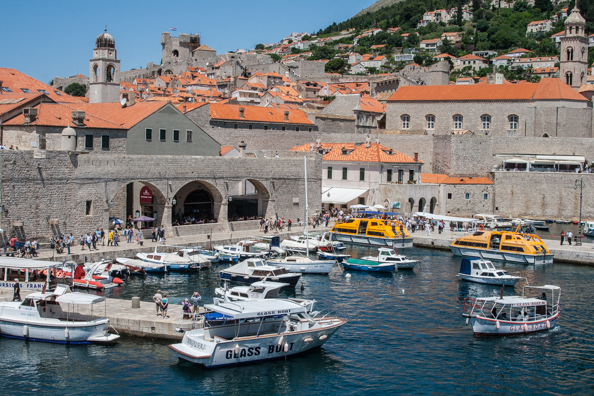 The old port of Dubrovnik in Dalmatia, Croatia