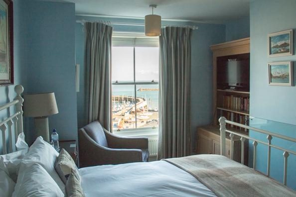 Bedrroom at the Royal Harbour Hotel in Ramsgate, Kent, UK