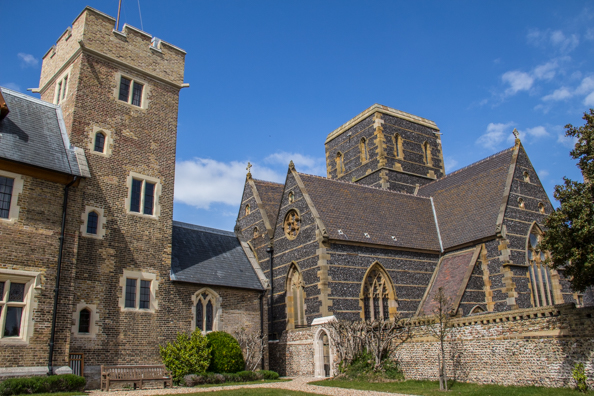 The Grange next to the Church of Saint Augustine in Ramsgate, Thanet in Kent UK