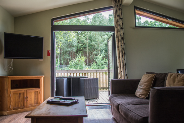 Sitting room in my lodge at Sherwood Hideaway Near Ollerton, Notts, UK