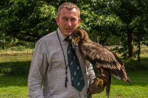 Simon with Nyima a Steppe Eagle