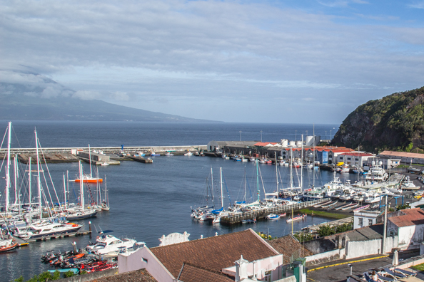 The marina at Horta capital of Faial Island in the Azores