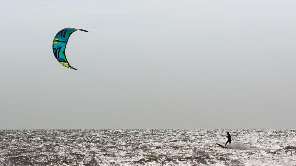 kite surfer in Morocco