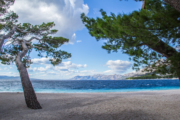 The Beach at Makarska in Croatia