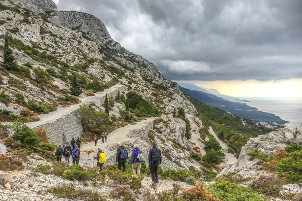 Napoleon's Road on Mount Biokovo on the Makarska Riviera in Croatia