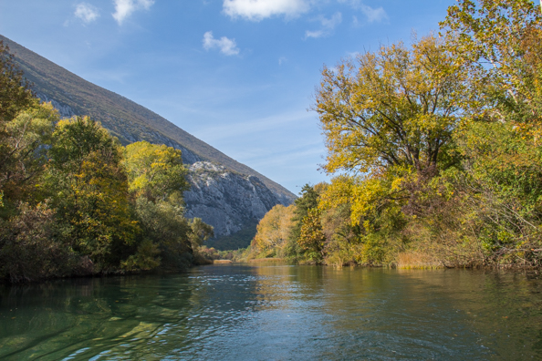 Cruising on the Cetina River towards Omis in Croatia