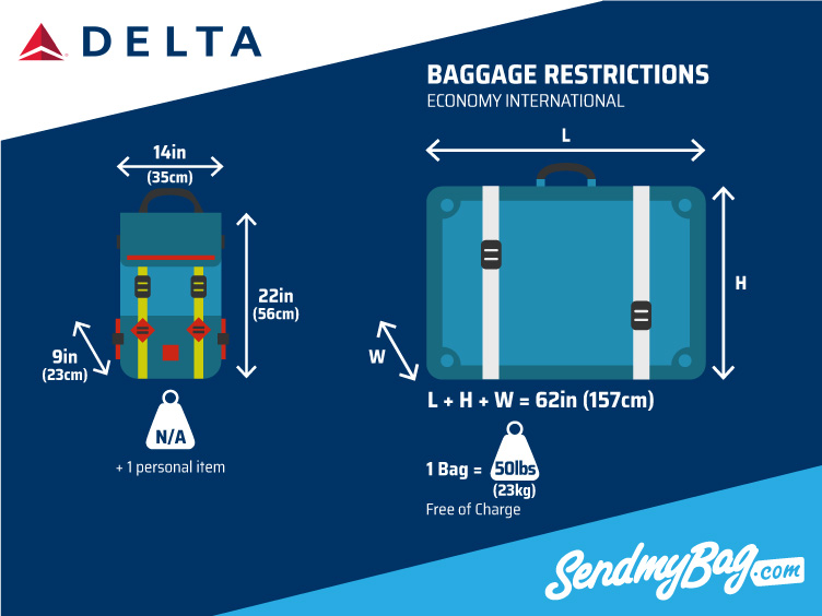 Delta baggagesize limits